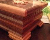 Handmade cherry wood jewelry box