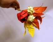 Fall wedding decor, centerpiece origami flowers bouquet, also available in desired colors