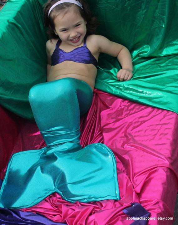 Mermaid Costume - Custom Mermaid Tail for Little Girls 2T-4T, teal