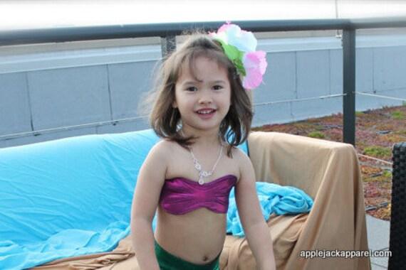 Little Girl's Seashell Bikini Top to Match Mermaid Tail