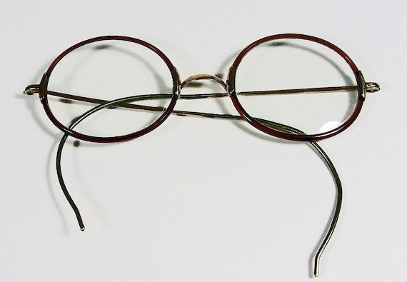 SALE Small Vintage Wire Rim Eye Glasses - 60s Hippie Bohemian Eyewear Fashion