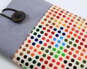 Kindle Case Sleeve Cover for 'Kindle,Ipad,Samsung,Nook,Kobo,Nexus,other eReader' with front Pocket - Colorful Small Polka Dots