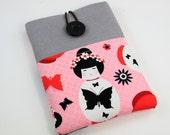Kindle Case Sleeve Cover for 'Kindle,Ipad,Samsung,Nook,Kobo,Nexus,other eReader' with front Pocket - Japanese Geisha