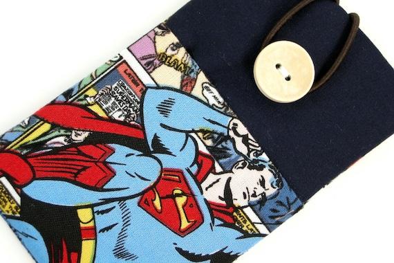 iPhone sleeve, iPhone case, iPod case, cell phone sleeve, smart phone sleeve, padded- Superman-B