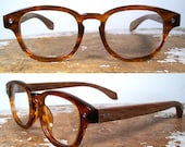 handmade tortoise and wood eyeglasses / rosewood and tortoise acetate glasses