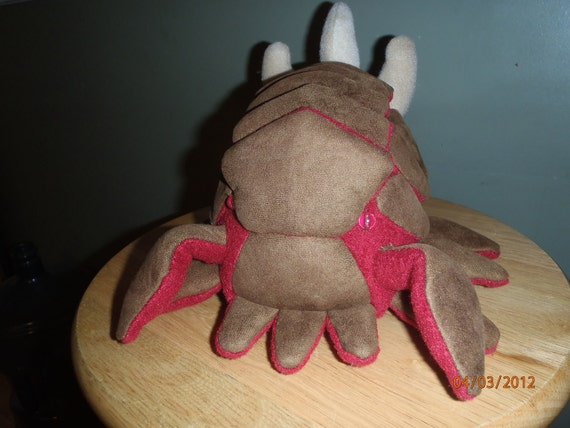 Starcraft 2 zerg infestor inspired fan art plush, handmade plushie