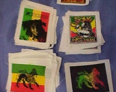 DESTASH Lot 46 Bob Marley patches REGGAE assorted for tshirts jeans purses sweatshirts clothes collectors rastamania lion