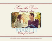 """Photo Save the Date """"Dotted Love"""" Wedding Announcement"""
