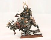 Hand Painted Warhammer Fantasy Chaos Lord on Juggernaut