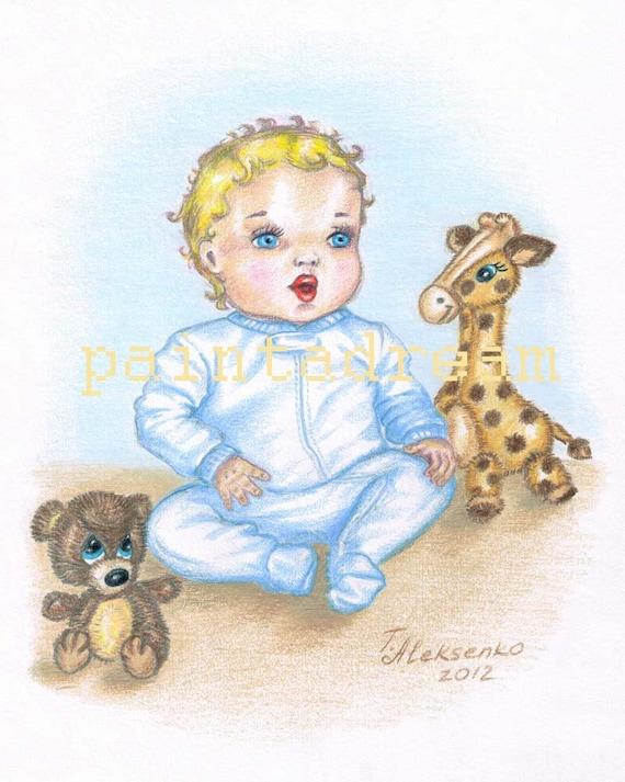 Baby Boy Teddy Bear Drawing
