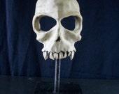skull mask ceramic - mounted