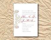 Wedding Invitation Ensemble  - Simply Ornate - Custom Color and Font - Printable DIY