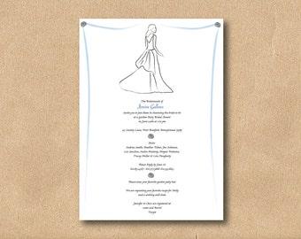 Bridal Shower Invitation  - DIY Printable - Custom Color and Font - Beautiful Bride Three
