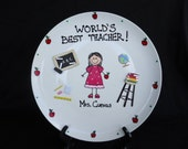 Personalized Hand Painted Teacher Gift