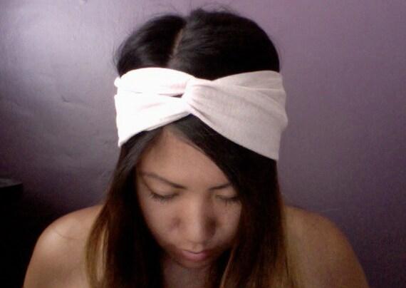 LAST Nude Beige Knit Jersey Turban Headband