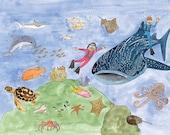 Atlanta Smiles Children's Book Prints - Georgia Aquarium
