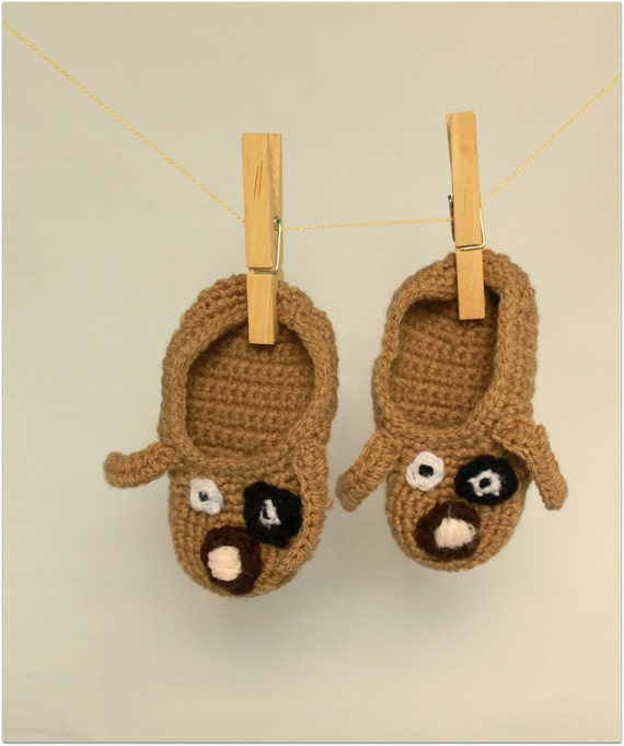 Puppy Baby Slippers / Booties
