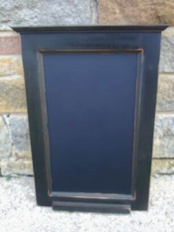 Handcrafted PRiMiTiVE Distressed Country Kitchen Chalkboard / Carriage Black/ Vertical Style