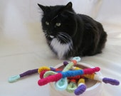 Wooly Worm Yarn and Sisal Cat Toy
