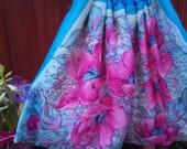 RESERVED Vintage Silk Scarf Bag