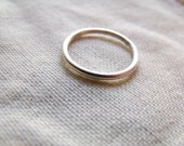Simple Tiny Sterling Silver Band Ring - Satin Finish - Made to Order Any Size 4, 5, 6, 7, 8, 9,10