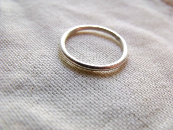 simple tiny sterling silver band ring satin finish made to
