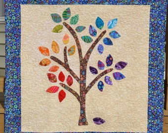 Happee Tree Quilt Pattern PDF- Applique the Easy Way- PDF