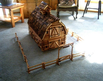Log play barn