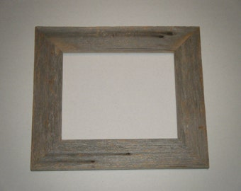 Rustic barn wood picture frame
