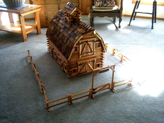 Log play barn