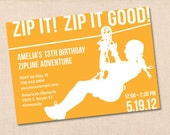 ZIP IT GOOD personalized printable birthday party invitation diy