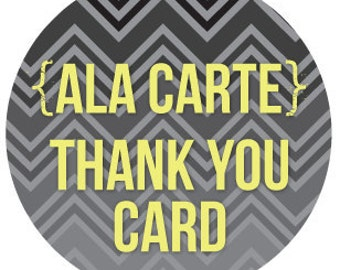 coordinating ala carte THANK YOU CARD personalized printable diy