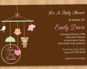 Animal Crib Baby Shower Invitation - DIY Custom Printable