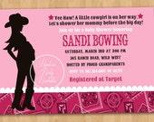 Modern Cowgirl Baby Shower Invitation - DIY Custom Printable