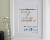 If it's green or wriggles - Cheeky Science Print