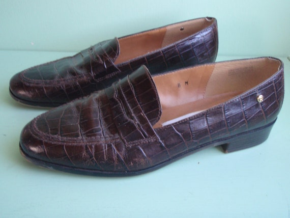 Etienne Aigner Leather Loafers, Size 8 , Made in Spain
