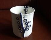 Custom order white mug with  tree ornament