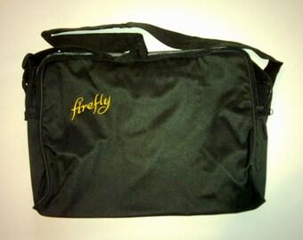 Laptop shoulder bag with Firefly logo