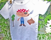 Personalized Boys  Little Pirate Boy Custom Onesie or Shirt