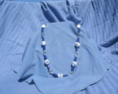 Navy and White Necklace