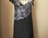 stunning nuno felted grey dress big is beautiful