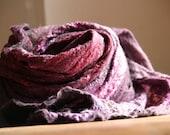 nuno felted purple cobweb wrap free shipping