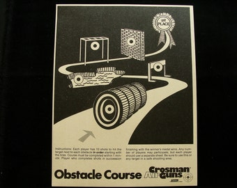 Vintage Crossman Obstacle Course Shooting Games Target