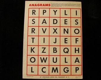 Vintage Anagrams Target by Crosman Arms