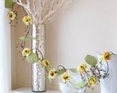 Home and living, decor and housewares, Garland, flower vine citrus lemon, lime and orange - CIRTUS VINE Alternative Blooms on ETSY