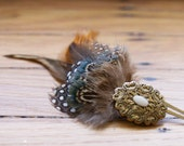 Natural Beauty Feather Barrette