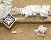 Ivory Bridal Flower Comb  ( HI - C5 )