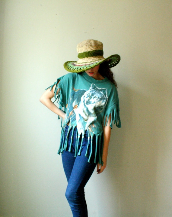 festival fringe tee. sustainable diy fashion. in stock. ready to ship.