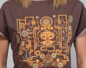 Limited edition screenprinted graphic on Boat-Neck Top for women. (Tshirt)