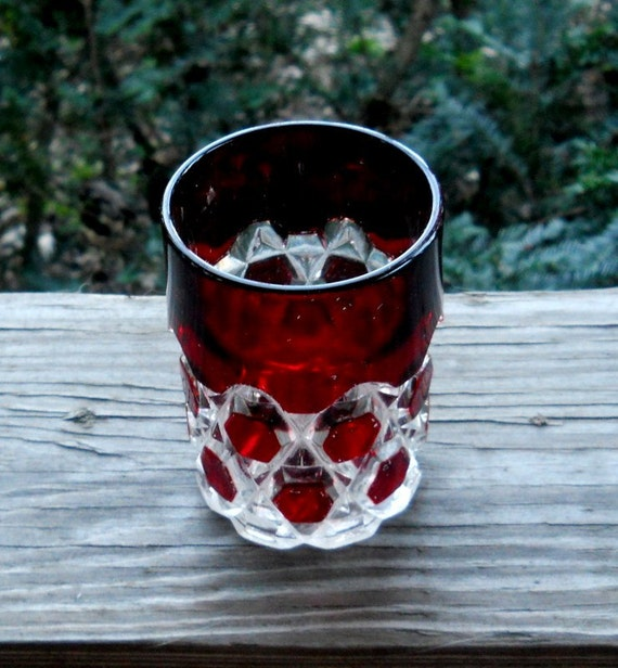 Ruby cut to clear water tumbler